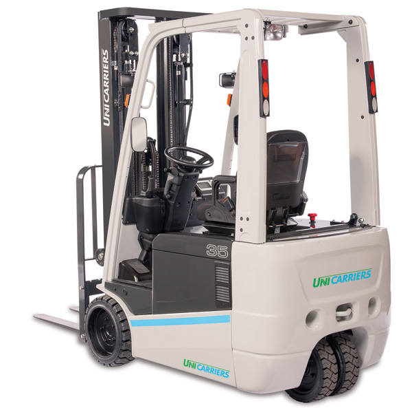 tx 3 wheel electric forklift unicarriers