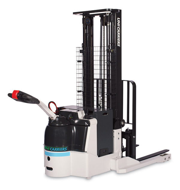 ws electric straddle stacker by unicarriers