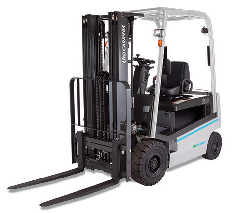 qx 4 wheel electric forklift by unicarriers