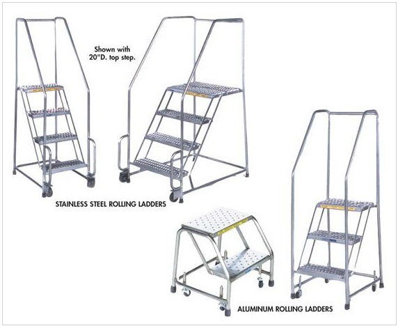 steel and aluminum rolling ladders
